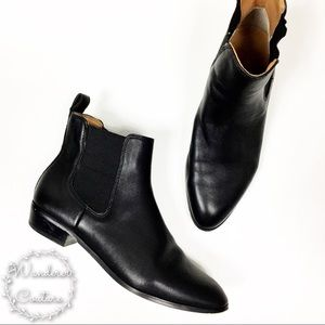 J. Crew Leather Chelsea Pull On Ankle Booties